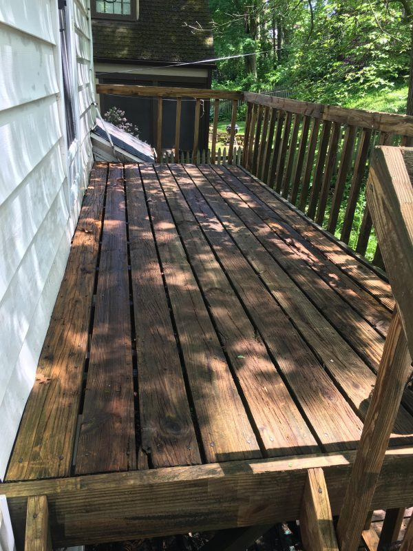 After picture deck power wash