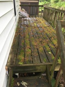 Before power wash deck pittsford, ny