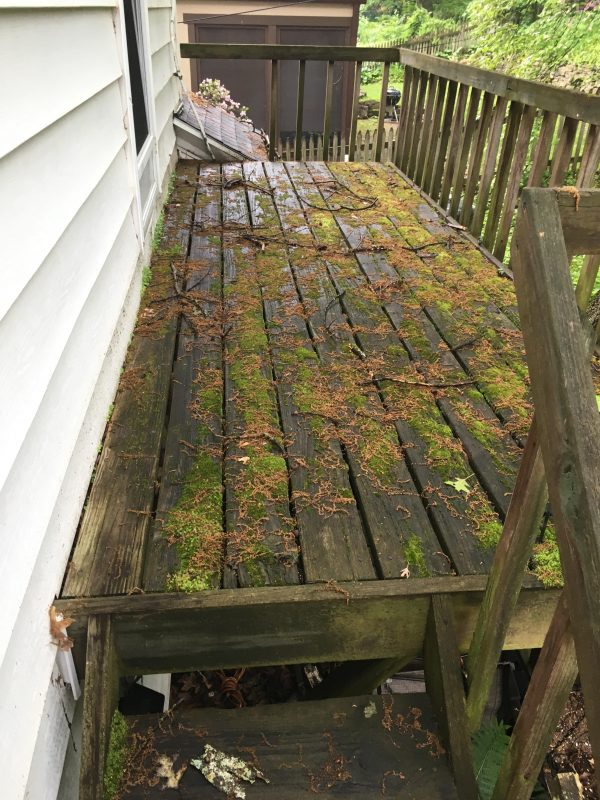 Before picture power wash deck