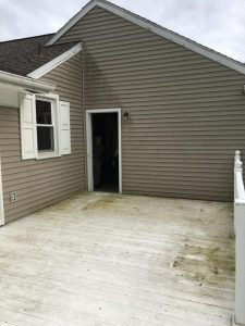Power wash house before picture