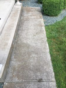 Pressure wash concrete before picture