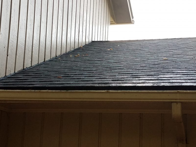 Roof soft wash after picture